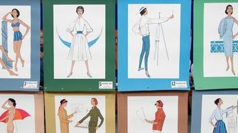 Appraisal: Fashion Study Posters, ca. 1960