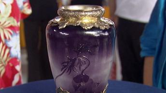 Appraisal: Silver Mounted Gallé Vase, ca. 1900