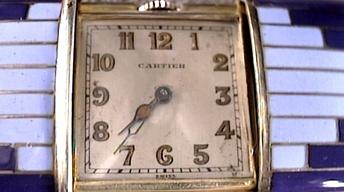 Appraisal: Clara Bow Anklet, Cartier Watch and Note