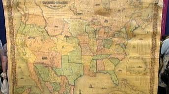 Appraisal: 1853 Colton U.S. Wall Map