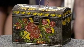 Appraisal: Toleware Deed Box, ca. 1835