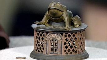 Appraisal: J & E Stevens Co. Frog Bank, ca. 1875