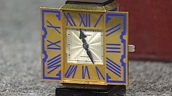 Appraisal: Cartier Gold Desk Clock, ca. 1928