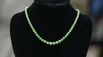 Appraisal: Jade Beads with Tiffany Clasp