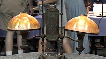 Appraisal: Tiffany Double Student Lamp