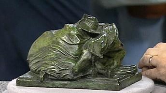 """Appraisal: Solon Borglum """"Blizzard"""" Bronze, ca. 1900"""