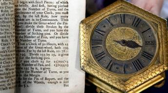 Appraisal: German Gilt Table Clock with Book, ca. 1700