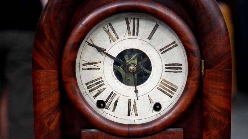 Appraisal: E.C. Brewster Beehive Clock, ca. 1838 image