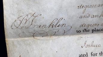 Appraisal: 1787 Ben Franklin Signed Land Grant