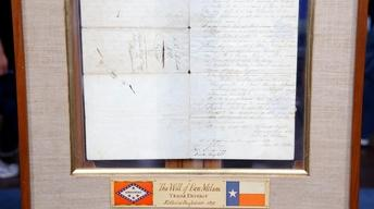 Appraisal: 1834 Ben Rush Milam Signed Manuscript Document