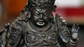 Appraisal: 17th-Century Chinese Bronze Guardian Figure