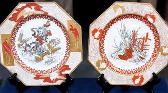 Appraisal: Jules Vieillard Japonesque Faience Plates &...