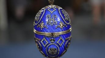 Preview: 20th-C. Fake Faberge Enamel Egg