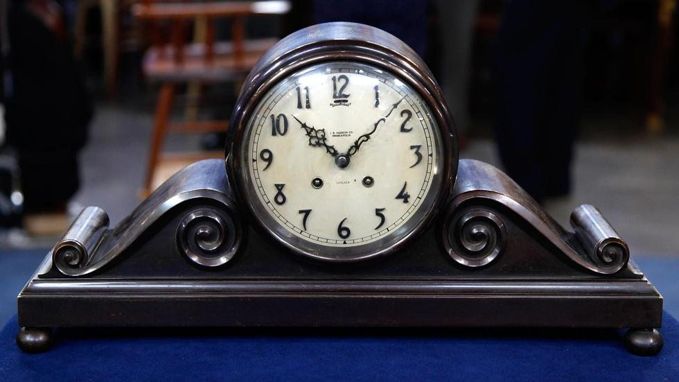 Appraisal: Chelsea Clock Company Tambour No. 3 Clock, ca.... image