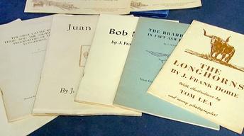 Appraisal: J. Frank Dobie Letter & Publications