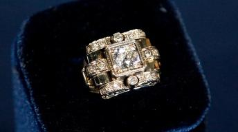 Appraisal: Diamond, Platinum & Gold Ring, ca. 1940