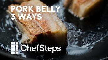 Pork Belly Three Ways