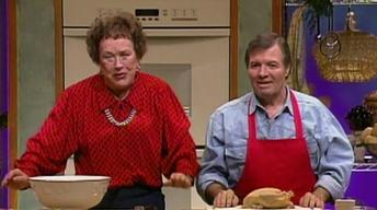 Julia Child & Jacques Pepin Prepare A Stuffed Turkey Roulade