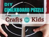 Crafts for Kids | Chalkboard Canvas Puzzle