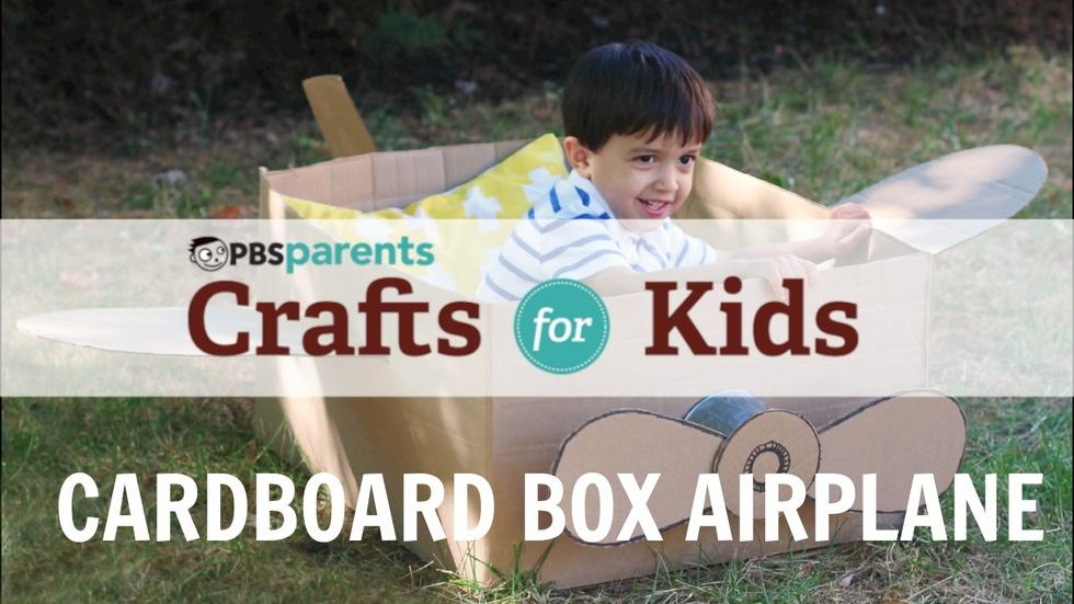 Cardboard Box Airplane  image