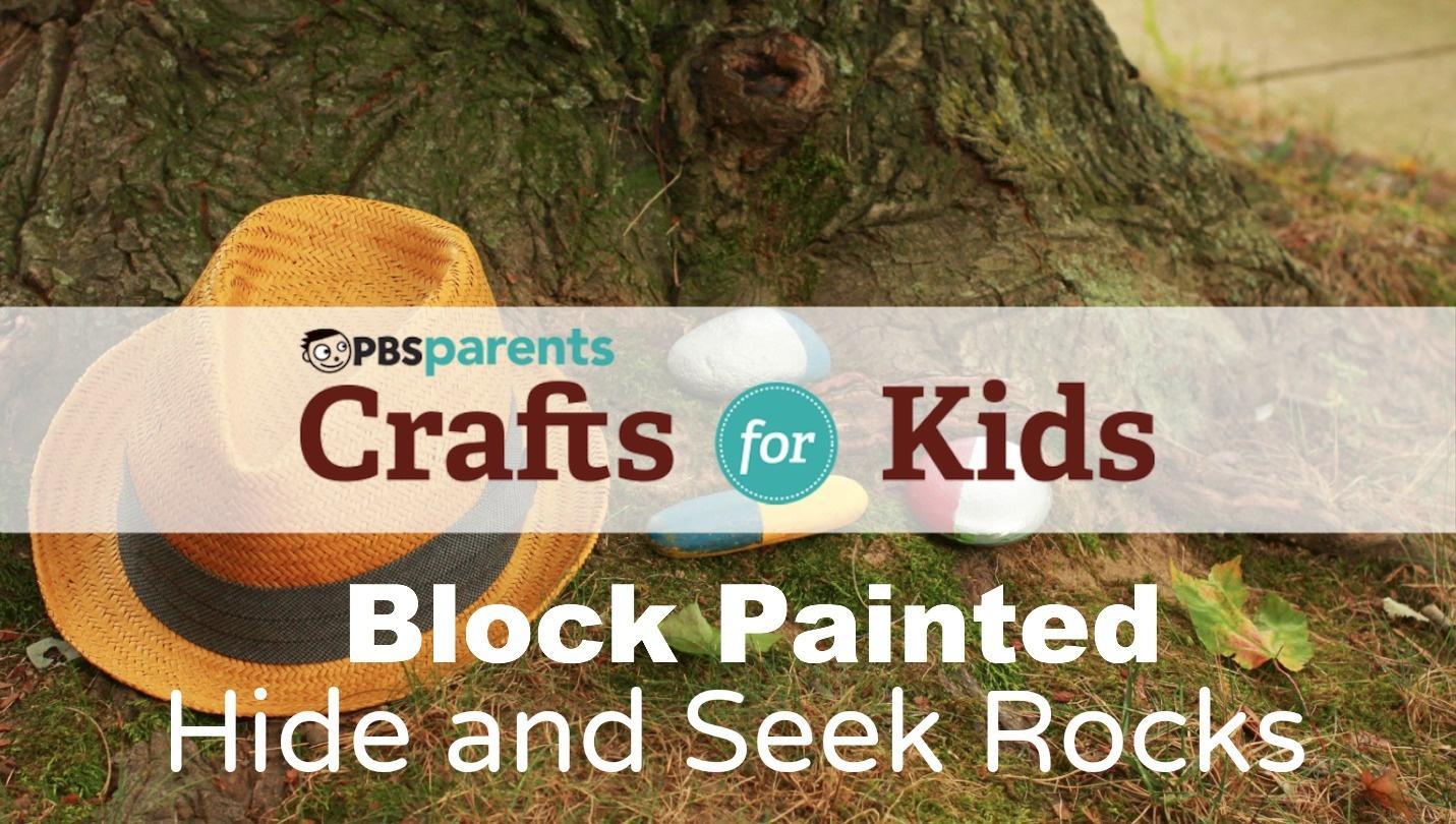 Block-Painted Hide-and-Seek Rocks image