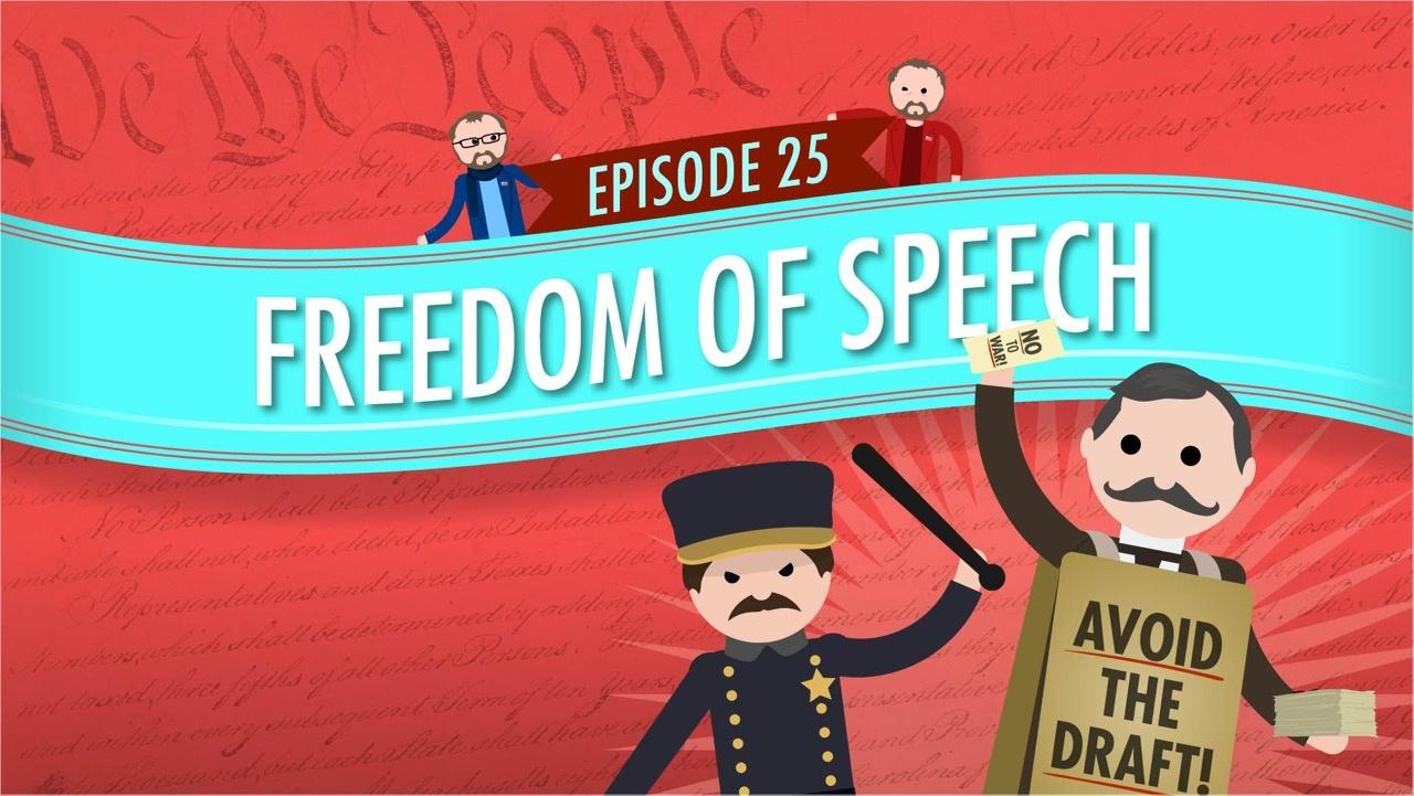 freedom of speech  crash course government  25