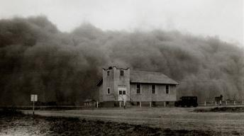 """Inside the Megastorm"" followed by ""The Dust Bowl"""