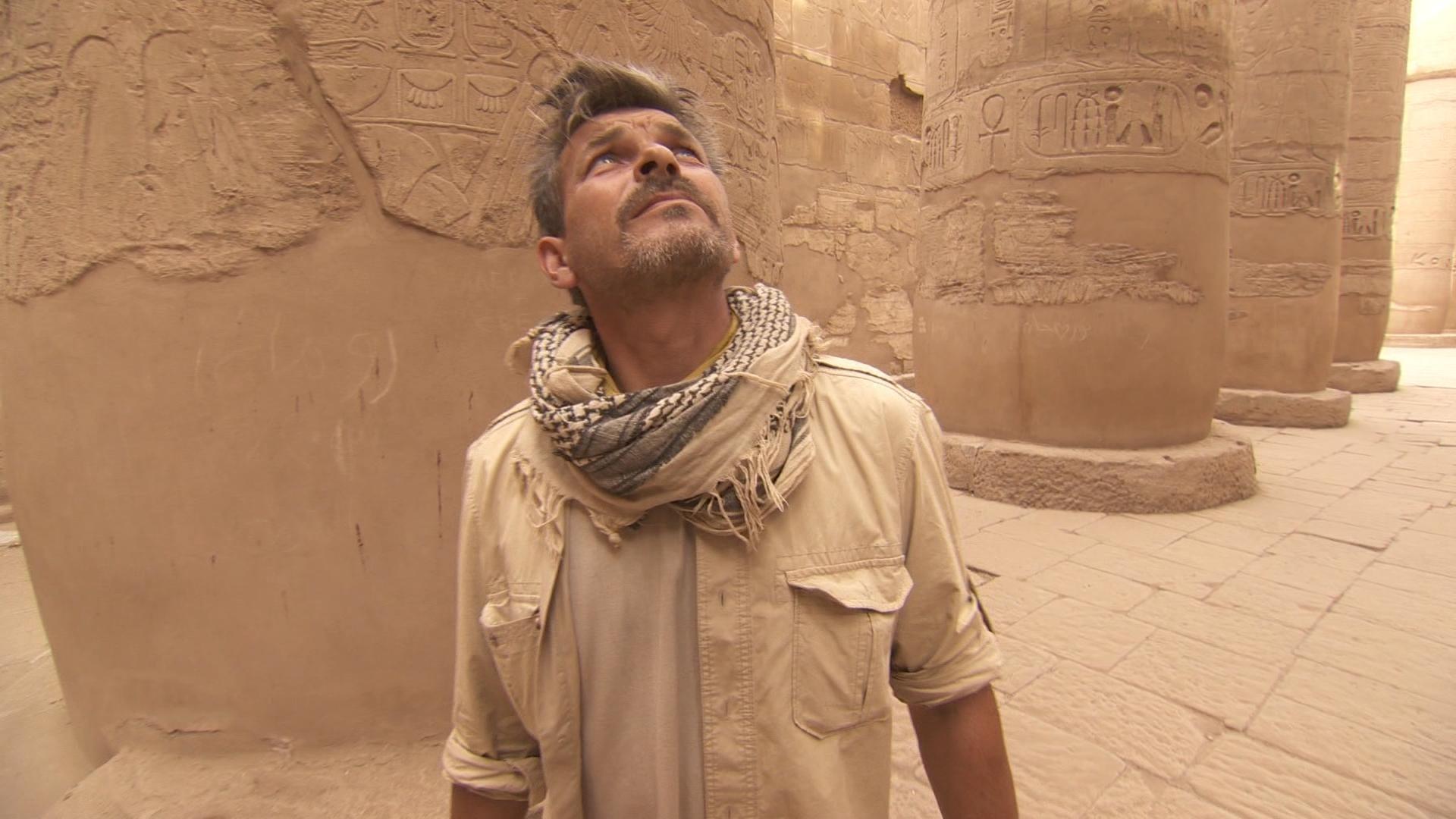 John and Maria Hunt for Quarry Marks in Karnak