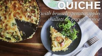 Quiche with Brussels Sprouts, Apples & Shallots