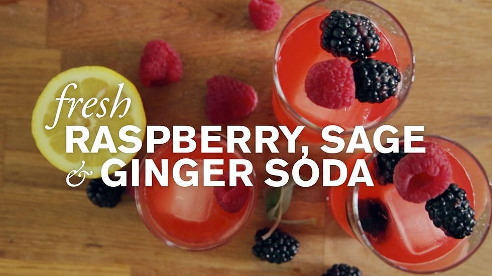 Fresh Raspberry, Sage & Ginger Soda image