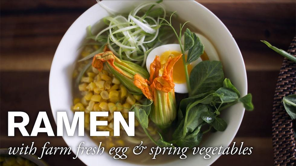 Ramen with Farm Fresh Egg & Spring Vegetables image