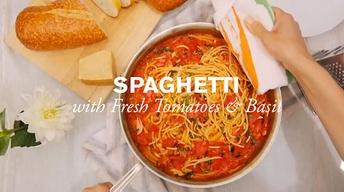 Spaghetti with Tomatoes and Basil