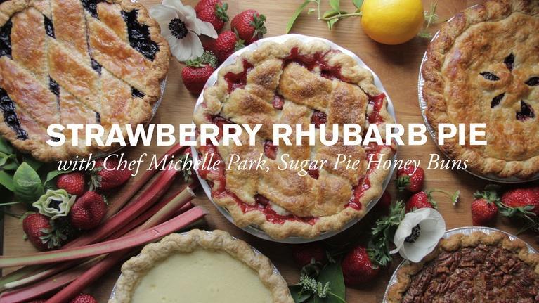 Farm to Table Family: Sweet Strawberry & Rhubarb Pie