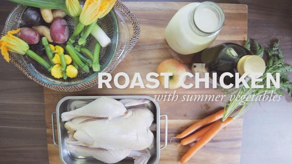 Roast Chicken with Summer Vegetables image