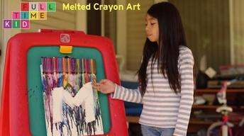 DIY Melted Crayon Art