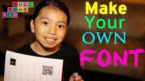 How to Make Your Own Font