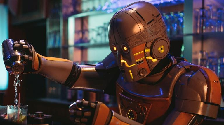 FutureStates: A Robot Walks into a Bar