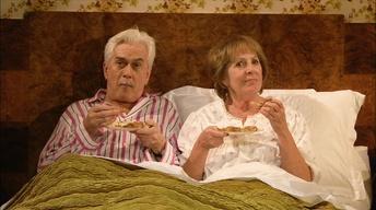 """Penelope Wilton and Nicholas Le Prevost in """"Bedroom Farce"""""""
