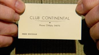 Club Continental: Underworld Calling Card