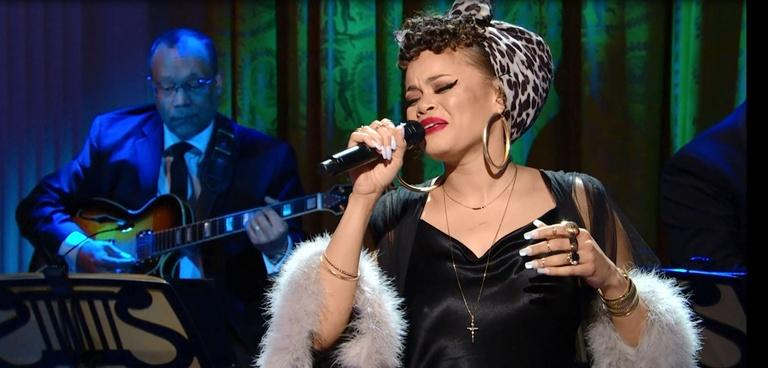 """S2016 Ep2: Andra Day Performs """"Drown in My Own Tears"""""""
