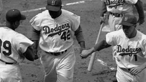 Learn more about the famous Pee Wee Reese and Jackie Robinson myth.