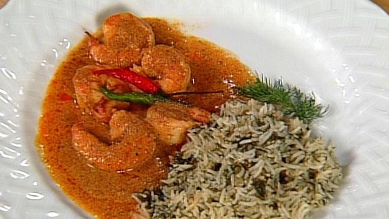 Shrimp & Rice with Fresh Indian Spices with Madhur Jaffrey