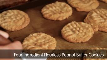 Four-Ingredient Flourless Peanut Butter Cookies image