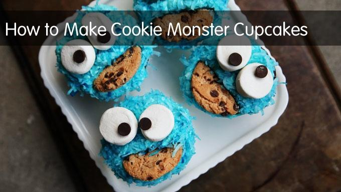 How to Make Cookie Monster Cupcakes image
