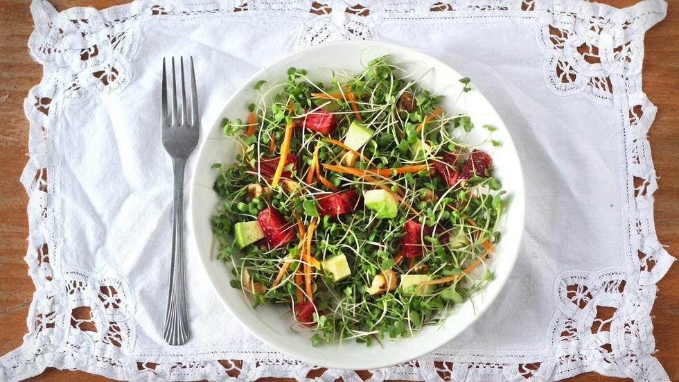 S1 Ep13: Microgreens Salad image