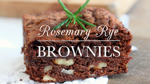 Rosemary Rye Brownies