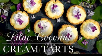 S3 Ep9: Lilac Coconut Cream Tarts
