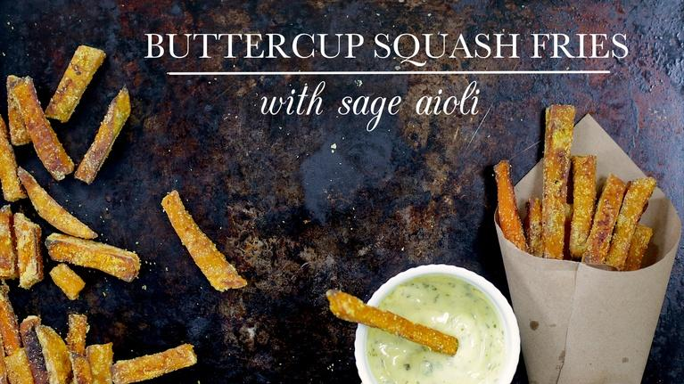 Buttercup Squash Fries with Sage Aioli
