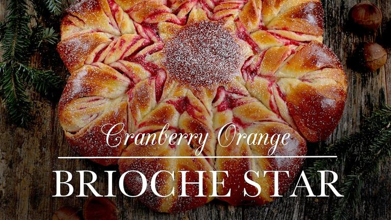Cranberry Orange Brioche Star