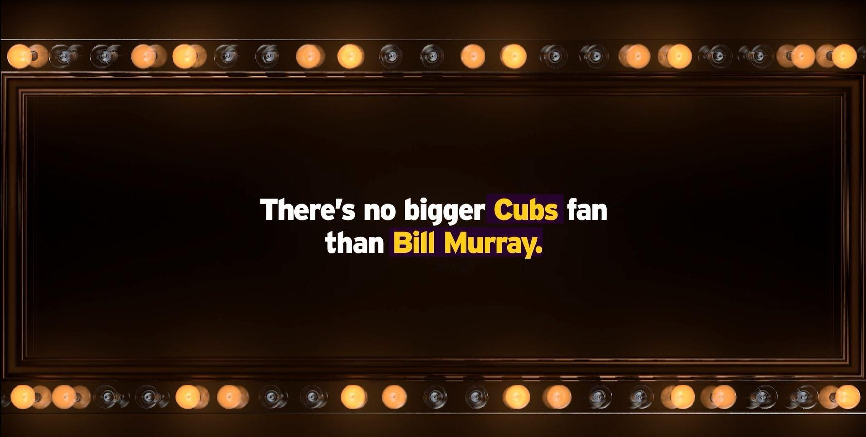 There's No Bigger Cubs Fan than Bill Murray